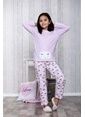 Lingabooms Bulutlu 2'li Çocuk Pijama Takım  Pembe